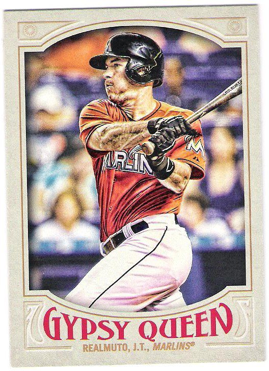 J.T. REALMUTO 2016 Topps Gypsy Queen Baseball Card #275 MIAMI MARLINS FREE SHIPPING 275