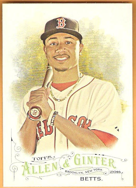 MOOKIE BETTS 2016 Topps Allen & Ginter Baseball Card #184 BOSTON RED SOX A&G FREE SHIPPING
