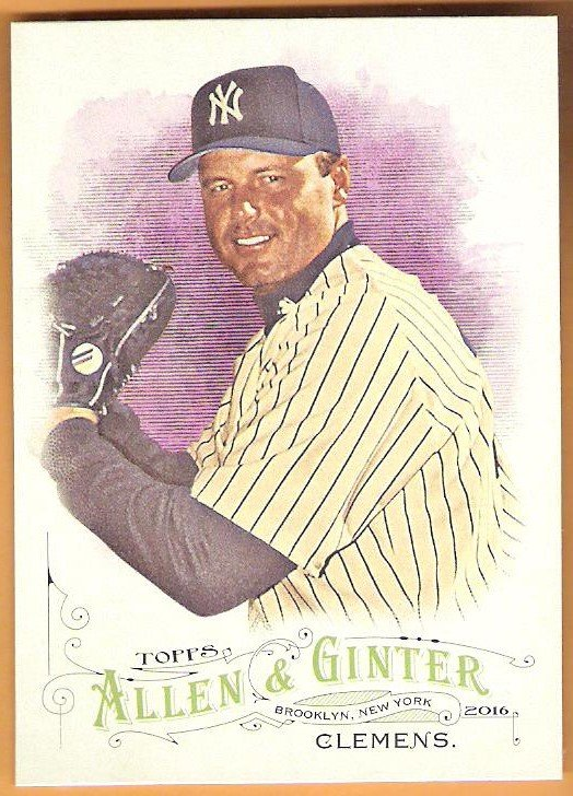 ROGER CLEMENS 2016 Topps Allen & Ginter Baseball Card #101 NEW YORK YANKEES A&G FREE SHIPPING