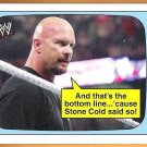 STONE COLD STEVE AUSTIN 2012 WWE Topps Heritage Superstars Speak INSERT Card #1 Wrestling FREE SHIP.