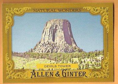 DEVIL'S TOWER 2016 Topps Allen & Ginter Natural Wonders INSERT Baseball Card #NW-15 Baseball NW-15
