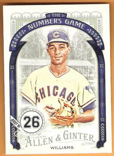 BILLY WILLIAMS 2016 Topps Allen & Ginter The Numbers Game INSERT Baseball Card #NG-71 CHICAGO CUBS