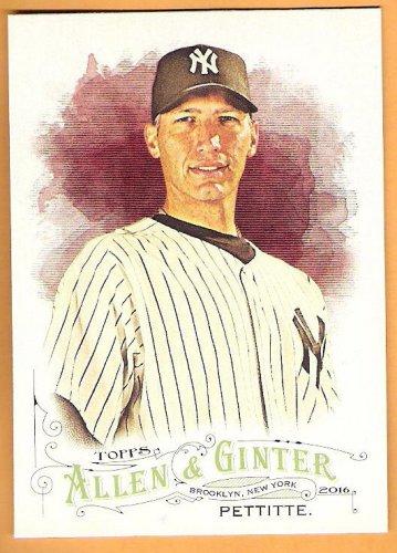 ANDY PETTITTE 2016 Topps Allen & Ginter SHORT PRINT Baseball Card #308 NEW YORK YANKEES SP 308
