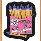 ASSORTED BLUE CRAYONS 2016 Topps MLB Wacky Packages Sticker Card #8 TORONTO BLUE JAYS FREE SHIPPING