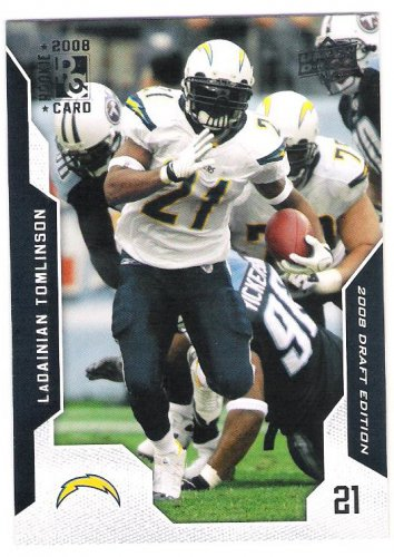LADAINIAN TOMLINSON 2008 Upper Deck Draft Edition Football Card 181 SAN DIEGO CHARGERS Free Shipping