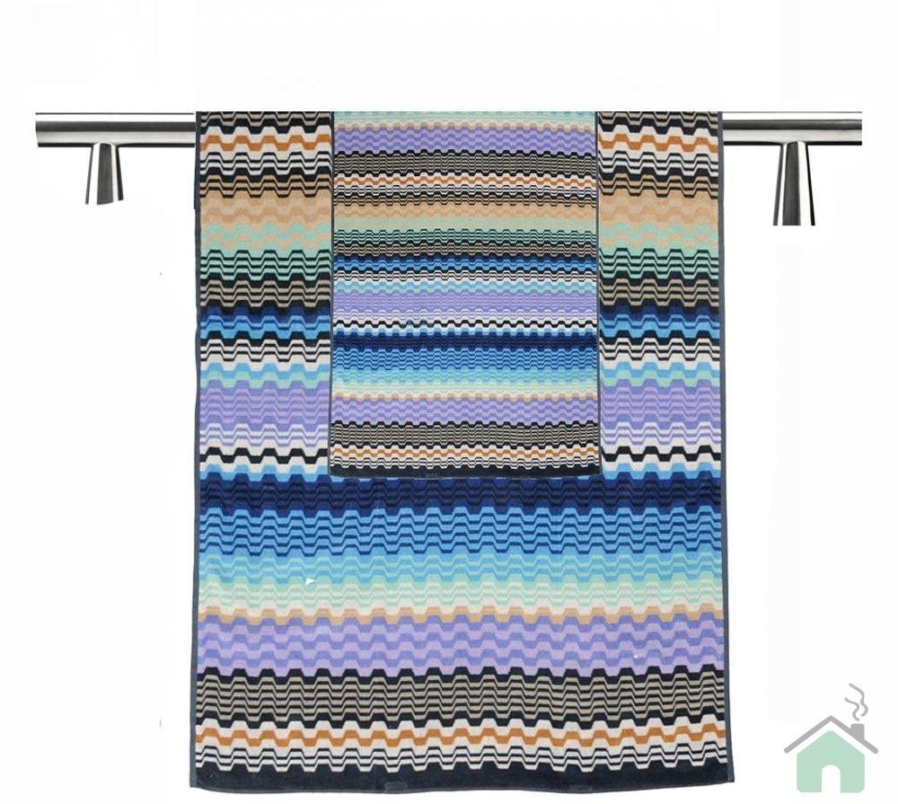Towels set 1+1 Missoni Home Lara var.170 - zig-zag pattern