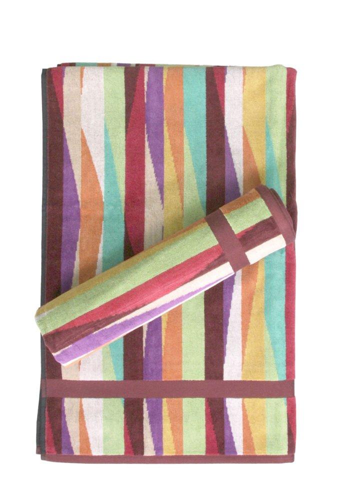 Missoni Home Romy 156 2015 set of 2 bath sheets+1 hand towel multicolor waves