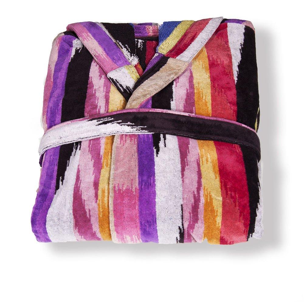 Missoni Home Bath robe with hood design lines multicolor HOMER