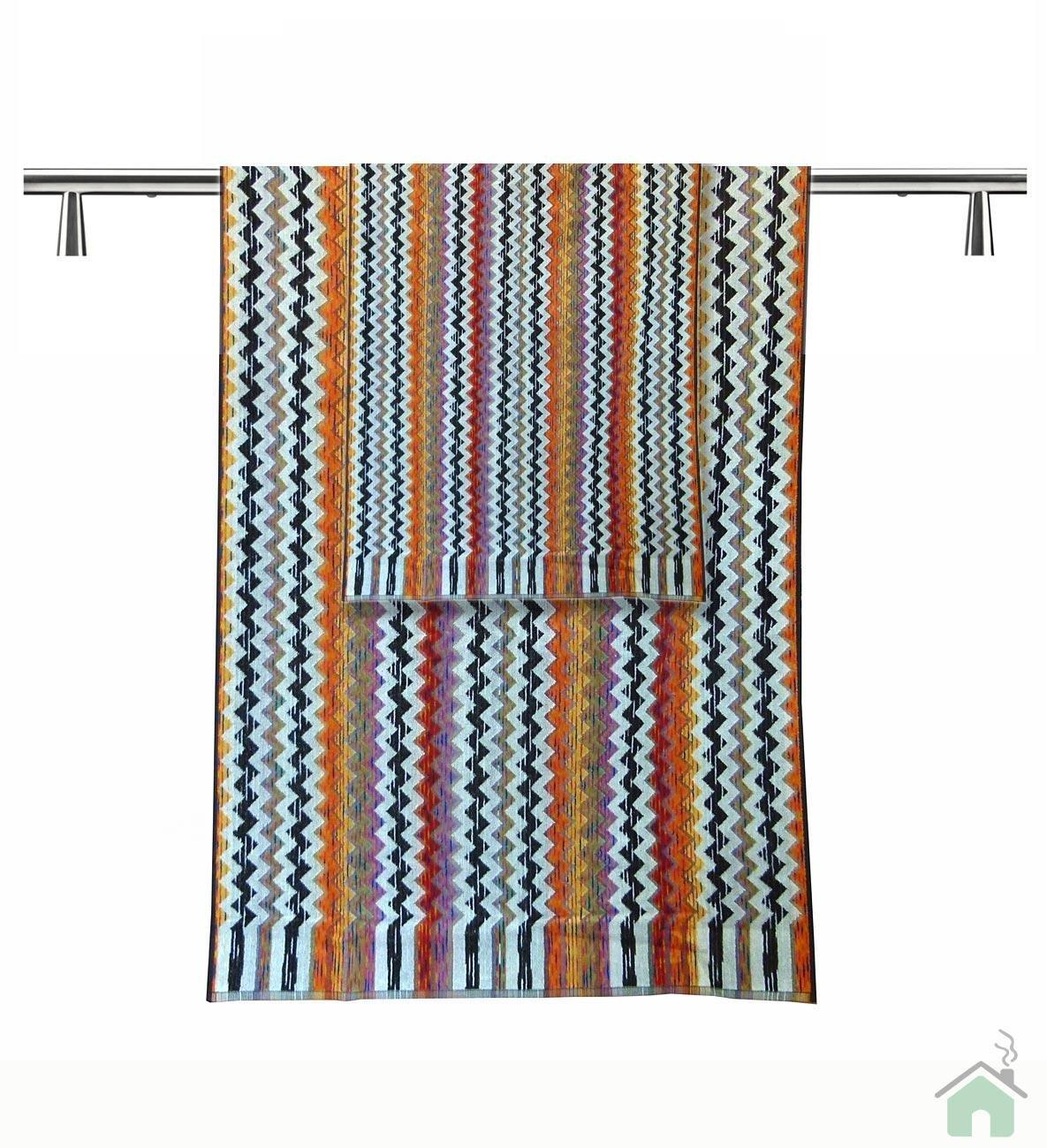 Set of 2 bath towels +1 hand towels Missoni Home Paul var. 156