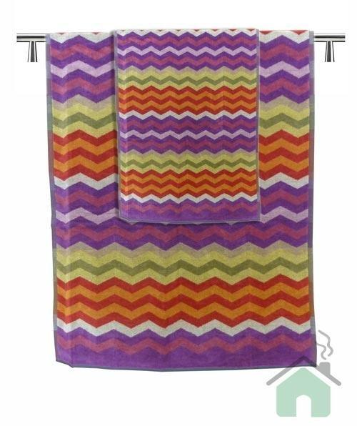 Set of 1 bath towel +2 hand towels Missoni Home Pete var.156 - zig-zag pattern