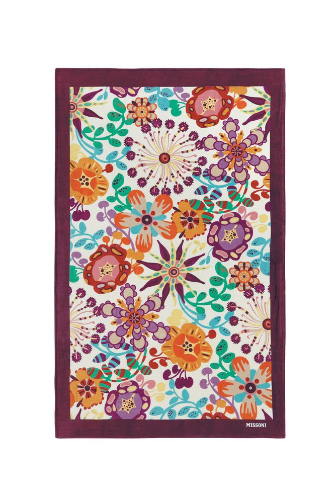 Beach towel Missoni Home 2015 Rita 156 purple inchies