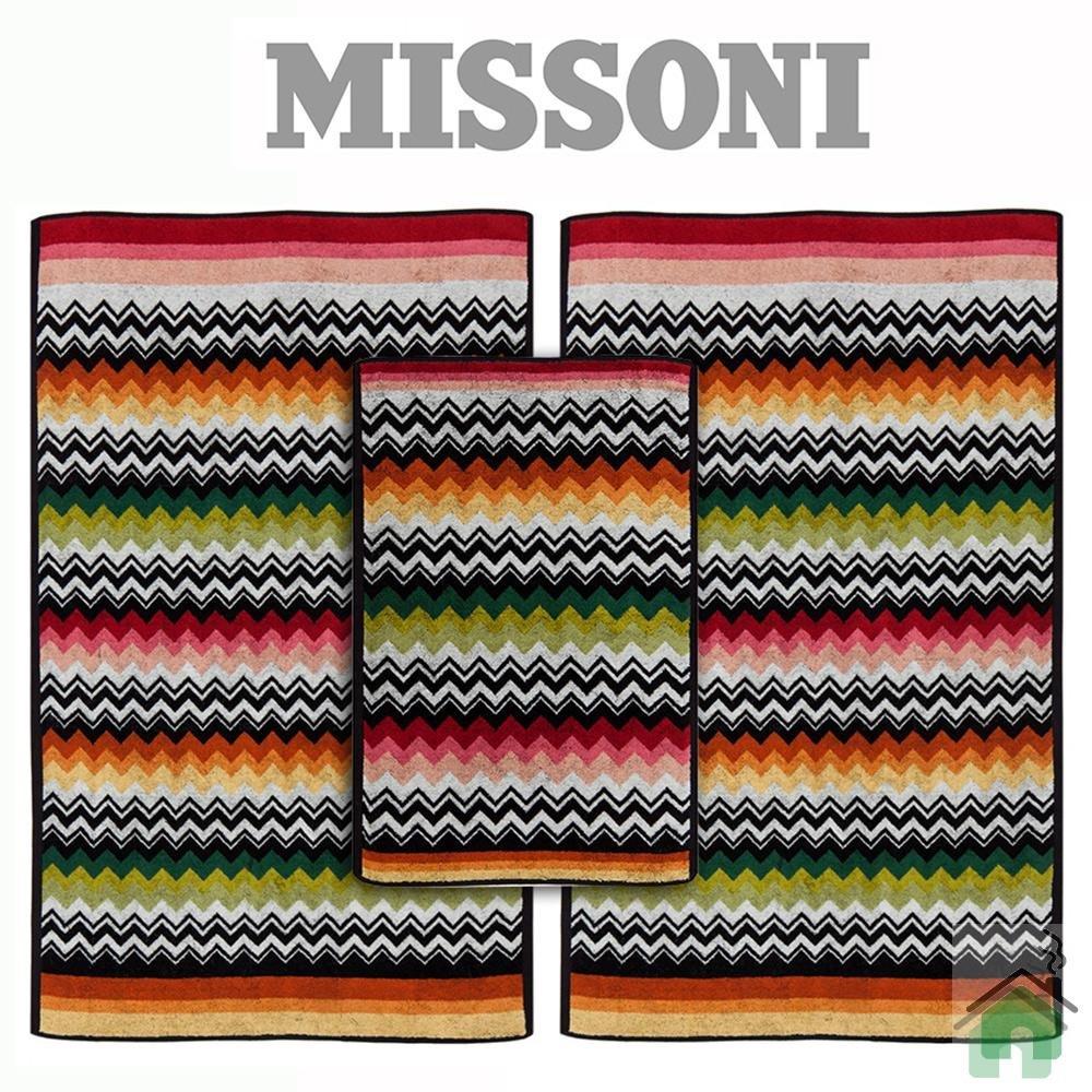 Full set 3 pieces Missoni Home Niles var.156 - multicolor zig-zag stripes