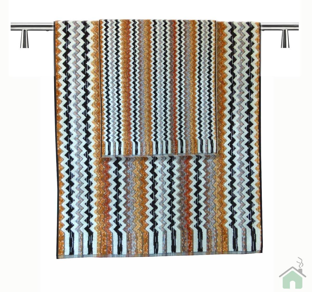 Zigzag Pattern Neutral Bathroom Towel Stripped Set Bath Towels Sheet Washcloth