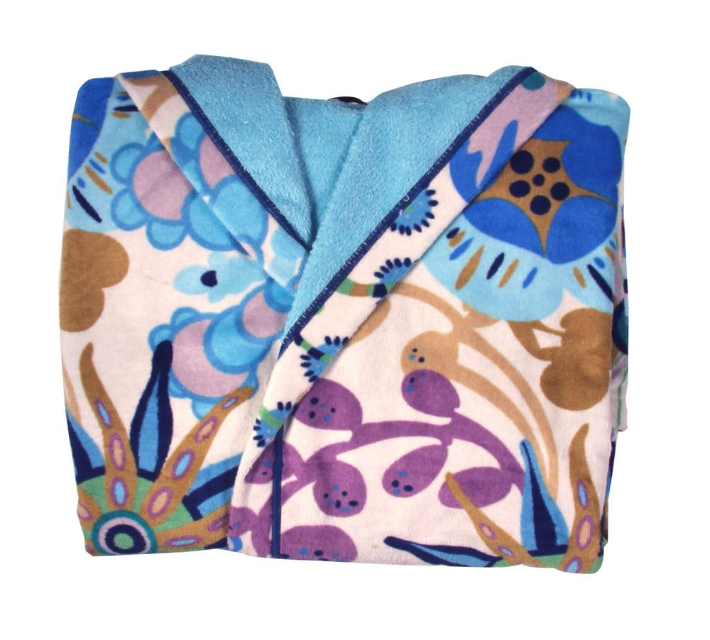 Missoni Home Bath robe with hood RITA var. 170 on shades of blue