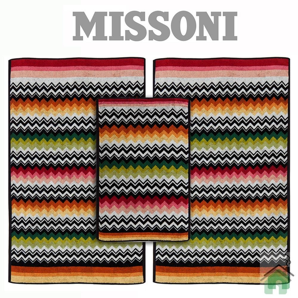 Full set 4 pieces Missoni Home Niles var.156 - multicolor zig-zag stripes