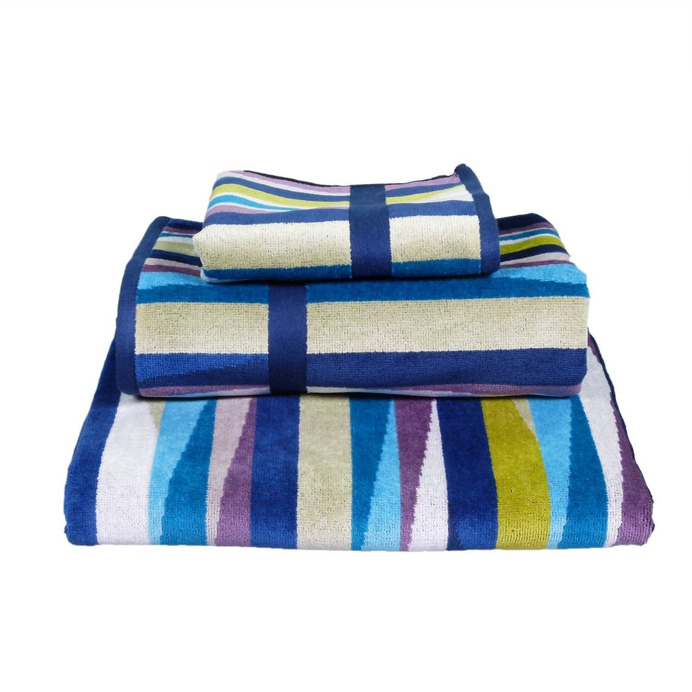 Missoni Home Romy 170 2015 set of 2 bath towels+2 bath sheets multicolor waves