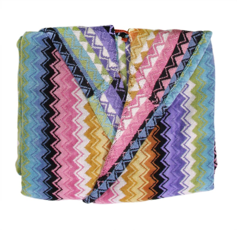 Missoni Home Bath robe with hood chevron ZIG-ZAG multicolored RALPH