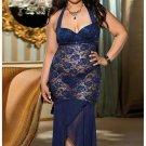 Sexy lace blue dress
