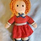 "6"" Annie doll 1982 Knickerbocker Vintage Toy Red Hair Red Dress"