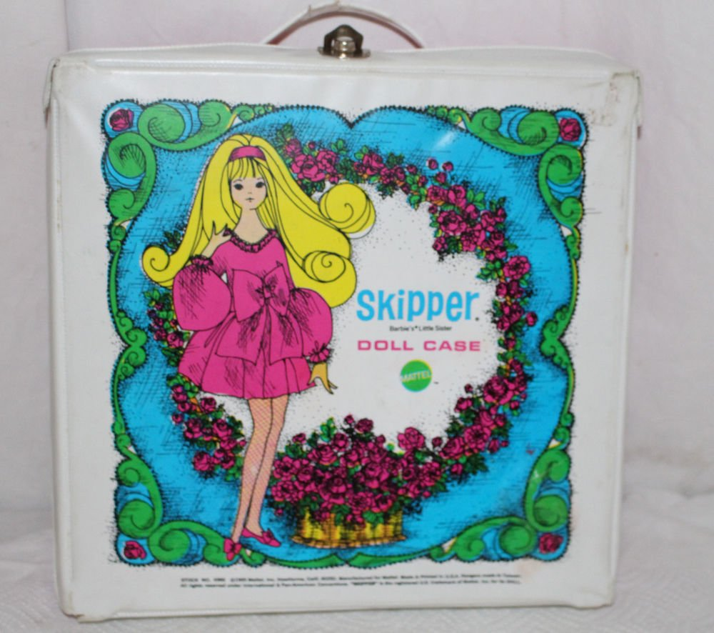 Vintage Skipper Doll Case 1969 Made in Taiwan