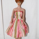 Vintage Barbie Tressy Babs Bild Lilli Clone Striped Sleeveless Dress