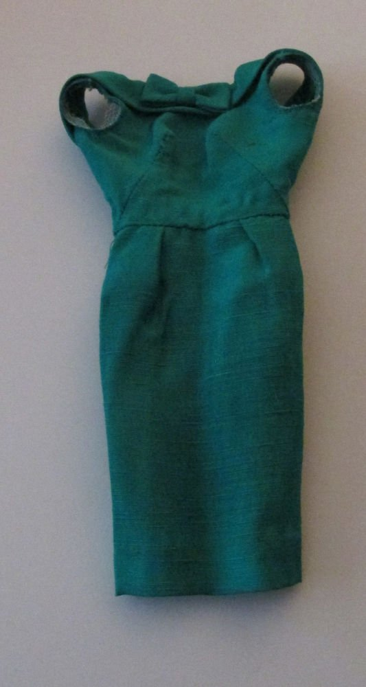 BARBIE FASHION PAK EMERALD GREEN SHEATH DRESS FREE SHIPPING