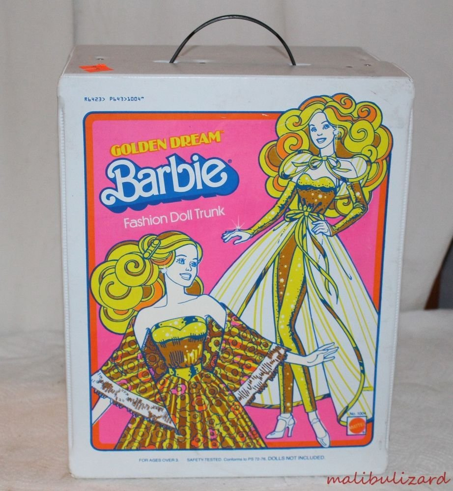 Barbie Golden Dream Doll Case Excellent Condition with Dolls and Clothes