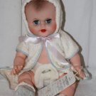 "Vintage  Vinyl Baby Doll Collete Toy Novelty Co. 14"" Pristine Hang Tag Sample"