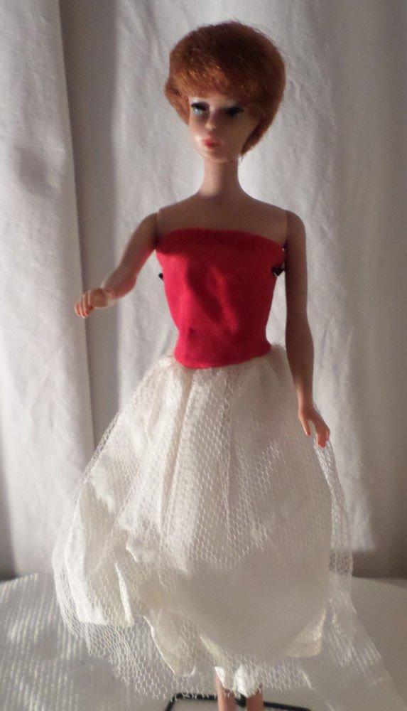 VINTAGE BARBIE CLONE RED FLAIR DRESS