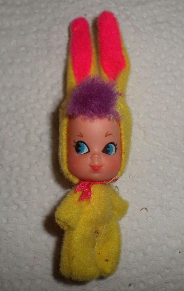 VINTAGE FUNNY BUNNY KIDDLE 3532 YELLOW SUIT