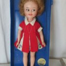 VINTAGE PENNY BRITE DOLL IN PLASTIC CASE ATTACHED NO LID