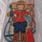 VINTAGE HALLMARK DOLLS OF THE WORLD GREETING CARD JOHN CANADIAN MOUTIE UNUSED FS