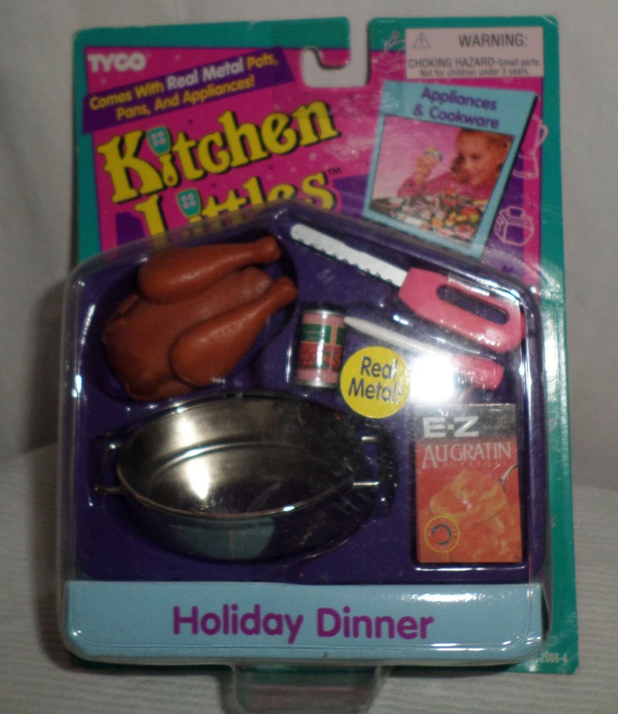 KITCHEN LITTLES HOLIDAY DINNER BARBIE SIZE MIP UNUSED FREE SHIPPING