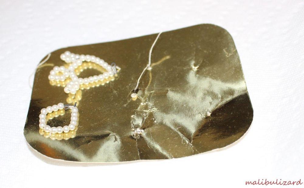 Vintage Beaded Tiara and Bracelet MOC