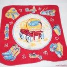 Vintage Novelty Handkerchief Advertising Amsco Toys Western Cowboy Theme