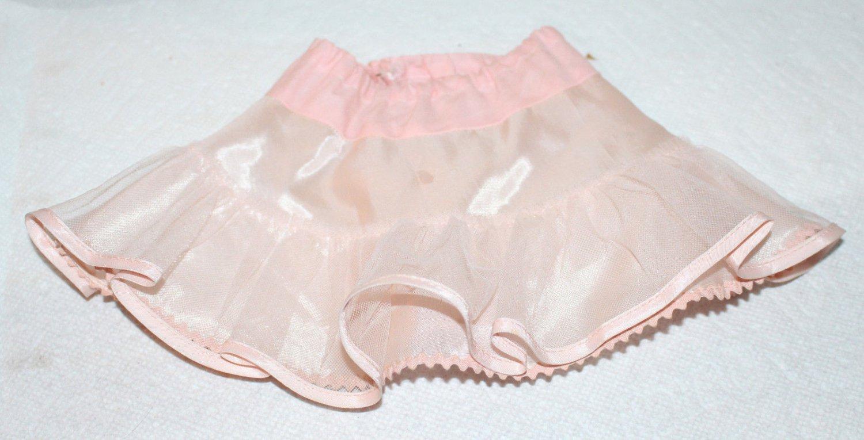 "Vintage Taffeta Pink Doll Slip Fits and 18"" Miss Revlon Doll Cissy"