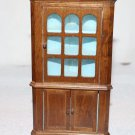 Dollhouse Miniature Corner Cupboard Blue Paint Antique Style