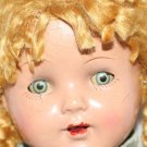 "Vintage Ideal  Pigtail Sally Doll 16"" Unmarked TLC"