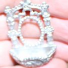Dollhouse Miniature Ornate Metal Wall Fountain