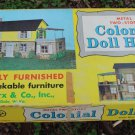 VINTAGE MARX TIN COLONIAL DOLLHOUSE UNASSEMBLED IN BOX