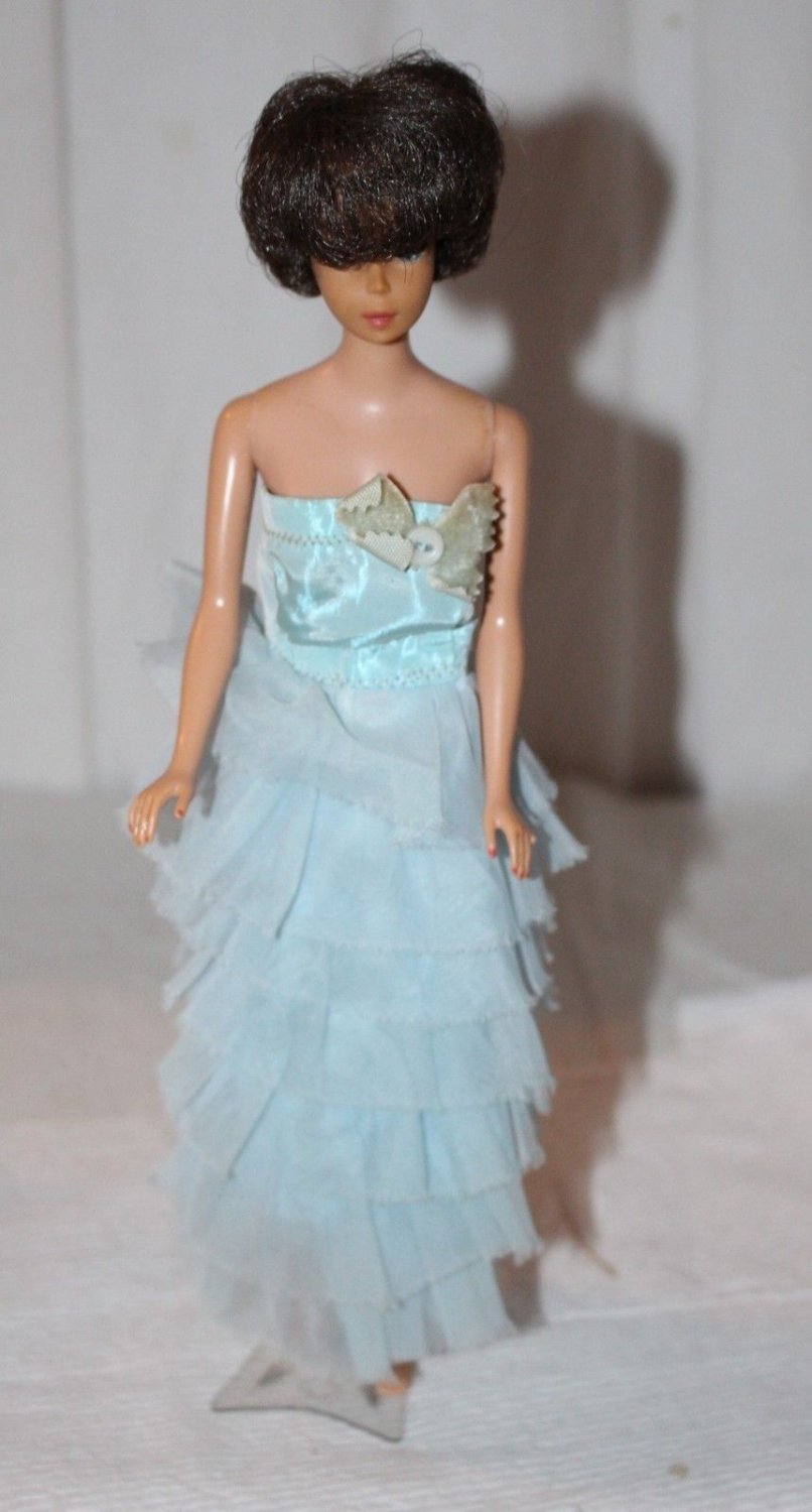 Vintage Barbie Clone Powder Blue Evening Gown