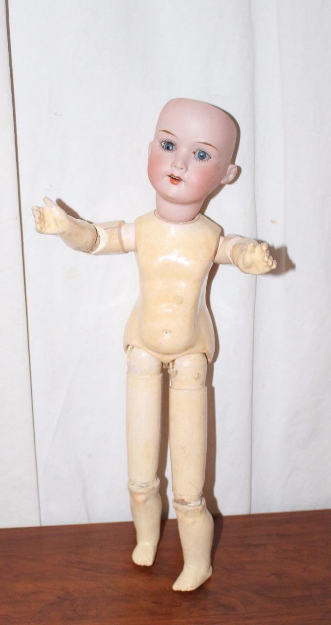 "Vintage Armand Marseille 15"" Doll Bisque Head 390 Stick Body"