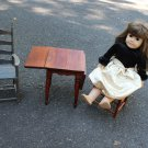 DOLL FURNITURE FITS AMERICAN GIRL 2 LADDER BACK CHAIRS DROP LEAF TABLE COUNTRY