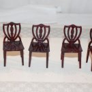 5  Vintage Dollhouse Shield Back Chairs