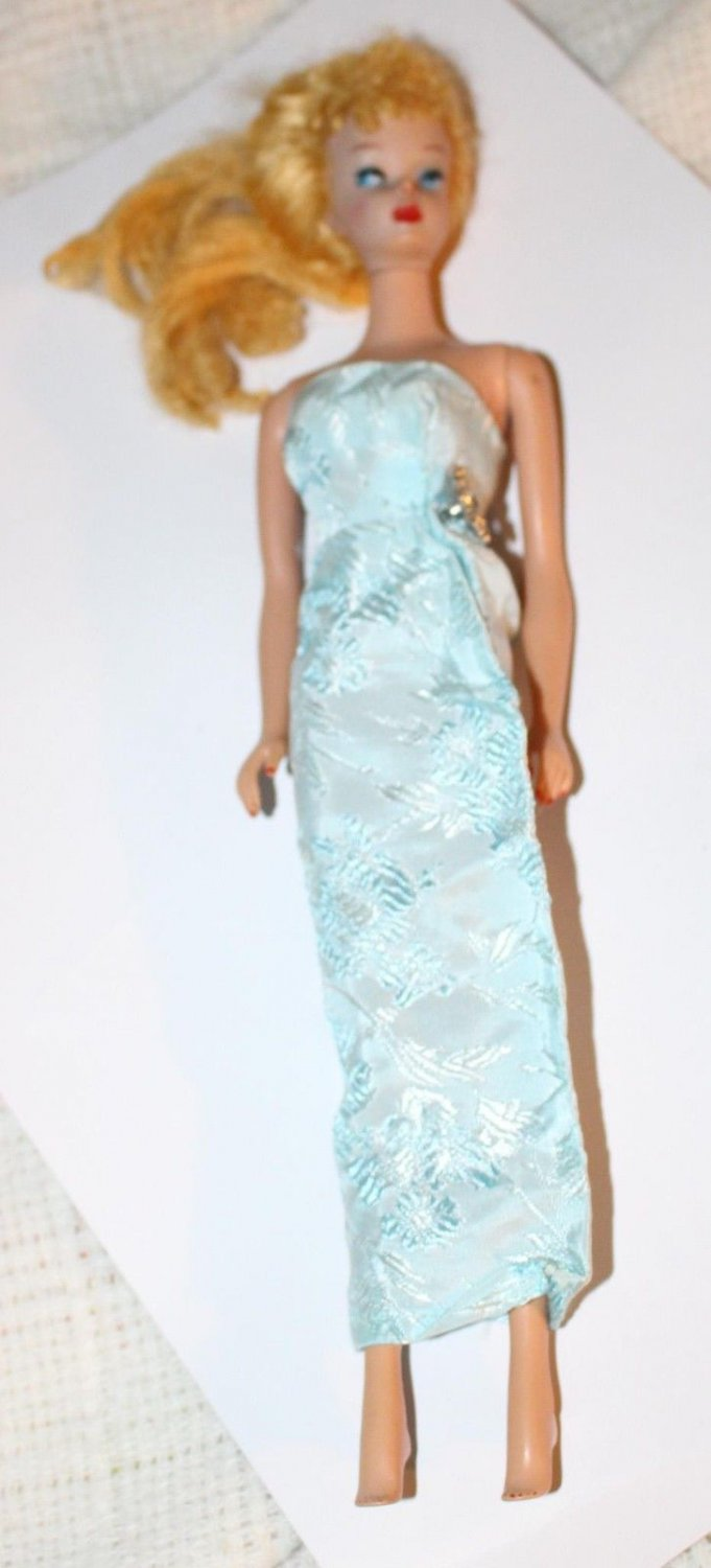 VINTAGE BARBIE CLONE DRESS STRAPLESS GOWN FITS BARBIE BILD LILLI BABS