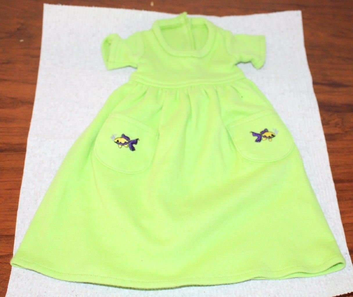 "Lime Green Long Dress fits Skinny 18"" Doll Fits Magic Attic Kid Galaxy"