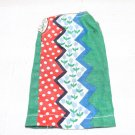 VINT SEW FEW FASHION DRESS RED GREEN BLUE MOD ZIG ZAG  FITS BARBIE