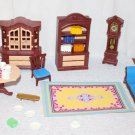 Playmobil Dollhouse Furniture Living Room Dining Room Rug + Small Pieces