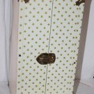 Vintage 1950s Doll Case White with Gold Stars Pink Interior Nice