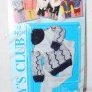 "1987 Clone Outfit Fits Ken 12"" Doll MOC Black & White Sweater Slacks  MOC"